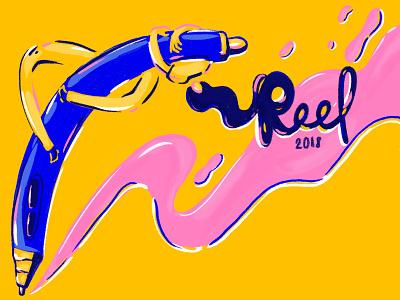 Soon. #WIP .-. reel type ink girl pen cintiq illustration photoshop