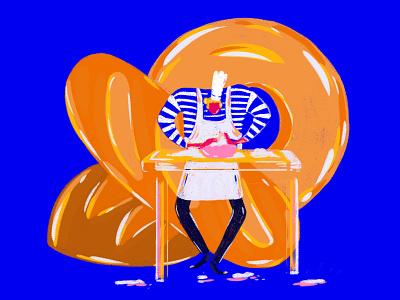 Bread Baker baker bread design character photoshop illustration