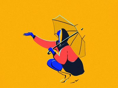 Lluvia character design motion design girl illustration photoshop