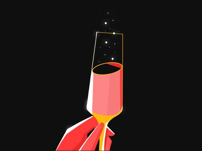 Happy New Year! hand champagne happy new years new years design illustration photoshop