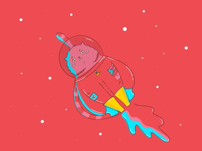 Pear shaped space cat collaboration motion design illustrator cc pear space cat design illustration