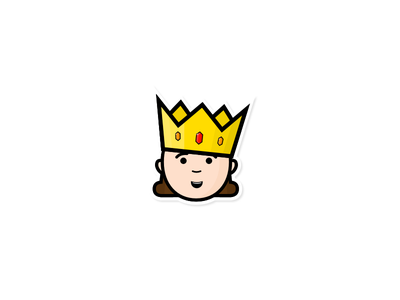 Cute Baby King creative cool macbook sweet sticker cute king baby