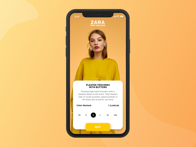 Zara App Concept ios iphonex application sketch product ecommerce fashion zara app design ux ui