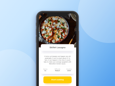 Cooking App Concept ios iphonex application sketch product recipe food coocking app design ux ui