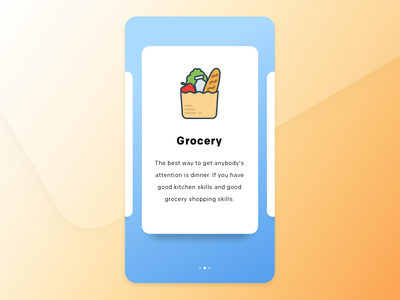 Onboarding clean grocery ios onboarding application app design ux ui