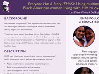 Sister Love fact sheet print design