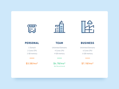 Daily UI | 030 — Pricing ui daily hosting business blue pricing pack price