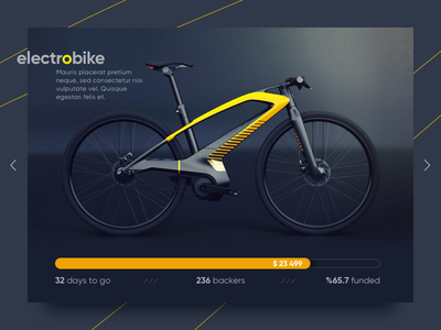 Daily UI | 032 — Crowdfunding Campaign concept electrobike bike ux ui 032 daily