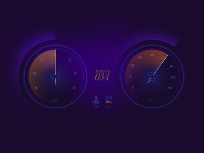 Daily UI | 034 — Car Interface light car speed speedo ui daily