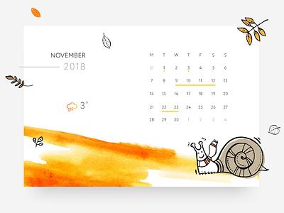 Daily UI | 038 — Calendar orange clean ux daily ui ui daily autumn calendar