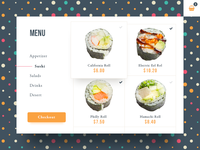 Daily UI | 043 — Food Menu