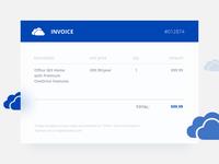 Daily UI | 046 — Invoice