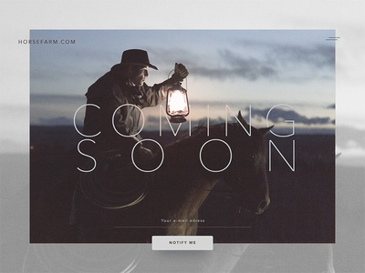 Daily UI   048 — Coming Soon daily ui ui horse daily 048 coming soon