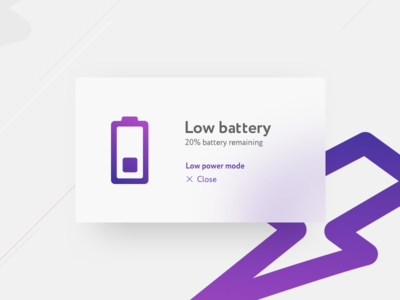 Daily UI   049 — Notification energy battery 049 notification ui daily