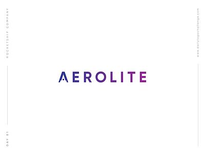 Daily Logo Challenge | 01. Rocketship dailylogochallenge letter a aerolite challenge logo daily rocketship