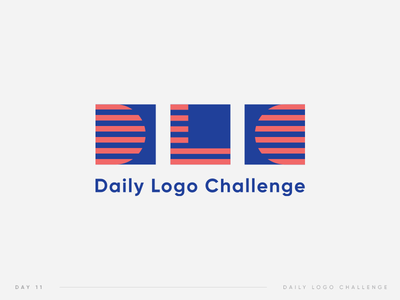 Daily Logo Challenge | 11 logodlc red blue pattern square challenge logo daily