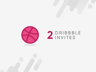 2 Dribbble Invites portfolio two invitation giveaway dribbble invite