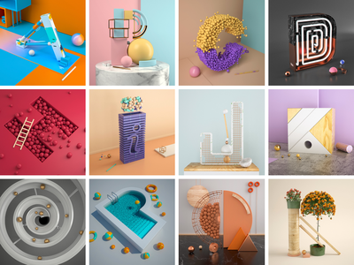 36 Days Of Type —2019 creative alphabet render daily design cinema4d poster 36daysoftype 3d illustration typogaphy challenge