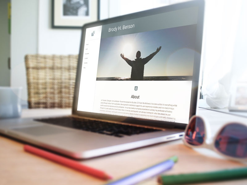 Personal Resume Site material design