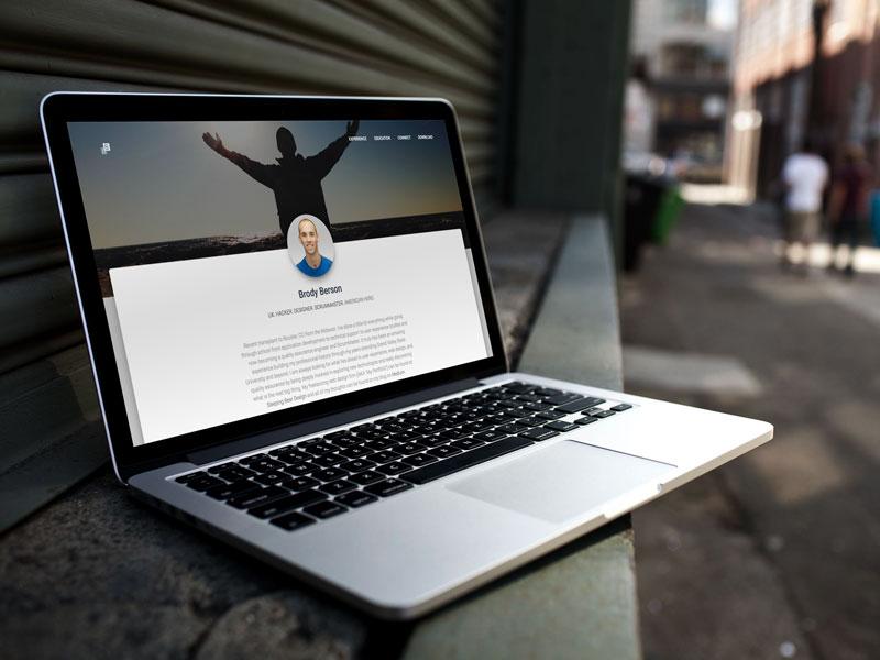 Personal Resume Site V3 design material