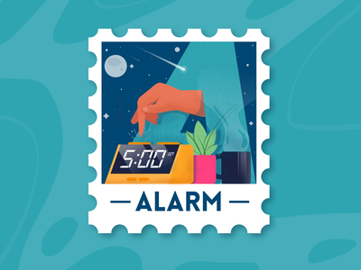 36 Days of type - A stamp alarm letter a 36days-a illustrator vector flat illustration 36daysoftype