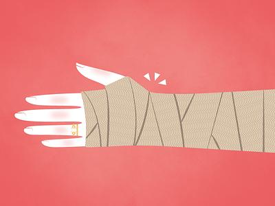 Broken Wrist vector texture illustrator illustration cartoon