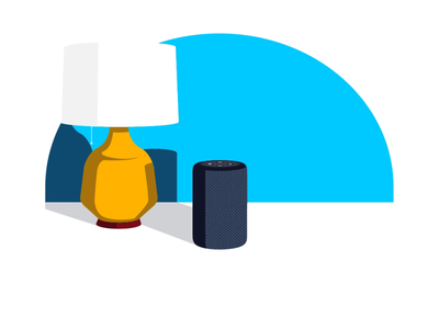 Alexa Guard Away Lighting gif animation vector illustration