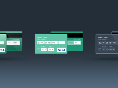 Credit Card: skeuomorph, flat and contour freebie form flat rdc russian design cup animation skeuomorph 2x credit card gif free ui contour free psd psd card payment line outline