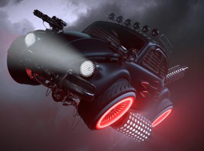 Steampunk VW Beetle Hero Car