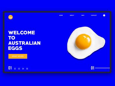 Australian Eggs web design illustration ui ux
