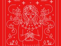 Winter 2019 red illustration