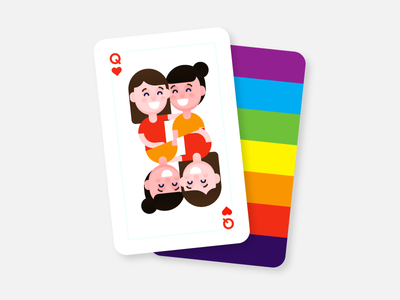 Pride Cards (Draft) rainbow pride character color icon minimal design clean vector illustration flat