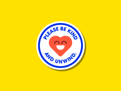 Be Kind ❤️ vector design minimal peace icon happy heart blue red sticker flat illustration