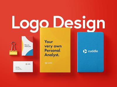 Cuddle Logo Redesign Project illustrator logo design ui branding visual  identity app freelance branding design branding project minimal design logo