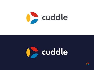 Cuddle Logo clean app ui branding typography logo design icon illustration