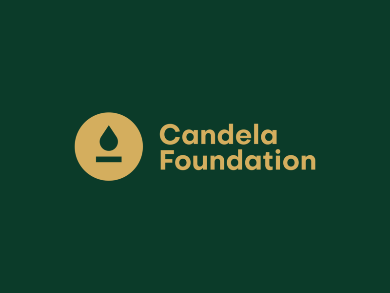 Candela Foundation Logo app web logo typography graphic design character branding clean vector ui flat design icon illustration