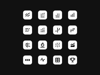 ✍️Designing Data Visualisation Icon Set for Cuddle.ai blog post blog minimal clean app vector flat design ui icon illustration