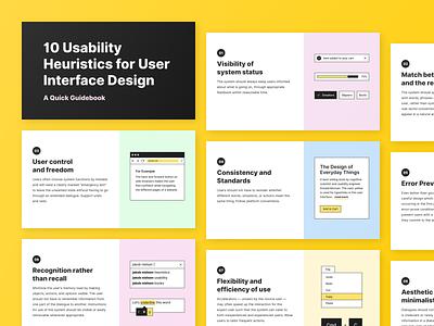 💾Nielsen's 10 Usability Heuristics icon download ux typography minimal clean app flat design ui illustration