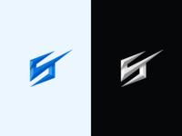 S + ✓ diamond style logo concept