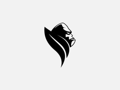 Gorilla + Leaf Logo Concept