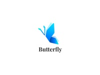 B for Butterfly blue logo brand mark animal logo animals animal b logo butterfly logo butterfly
