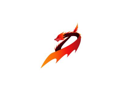 D for Dragon Logo