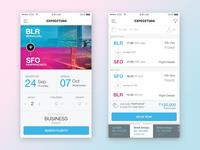 Flight booking app Interaction Design
