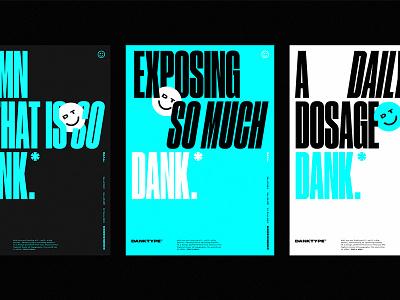 Dank Type™ Poster Set pantone cyan type print druk typography poster