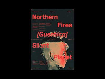 Silent Planet – Northern Fires [Guernica] print silentplanet c4d 3d music artwork albumartwork metal typography type graphicdesign