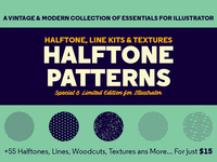 **NEW PRODUCT** Halftone Pattern for Illustrator