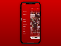 AC Milan App Menu