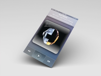 iOS 7 Daft Punk Audio Player