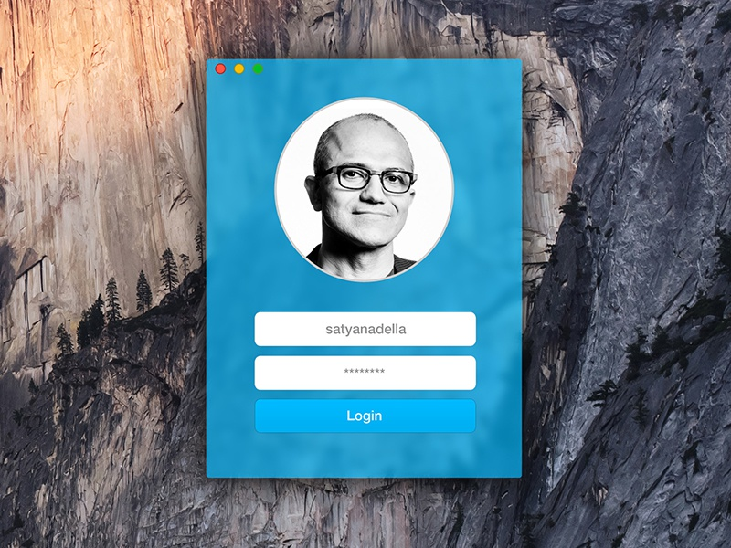OS X Yosemite Minimal Skype Login osx yosemite minimal skype login satya nadella