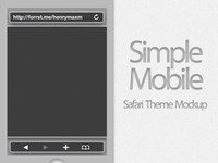 Simple Mobile (Safari Theme Mockup)